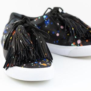 Loeffler Randall Paint Splatter Logan Sneakers